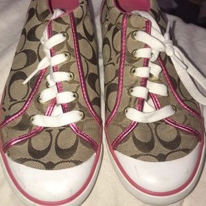 Pink Coach sneakers!